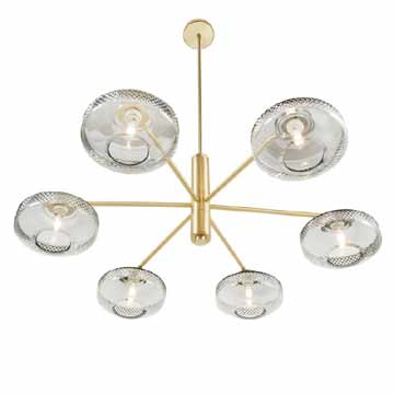 Lily 6 Arm Chandelier