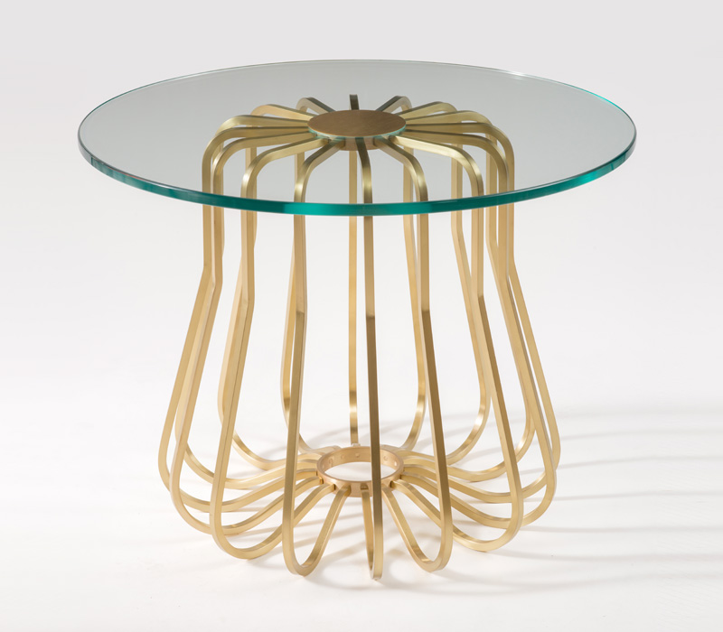 Rococo Small Glass Side Table