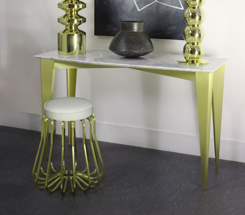 Rococo Stool with Table