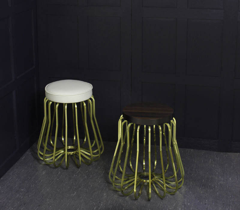 Rococo Stool and petite