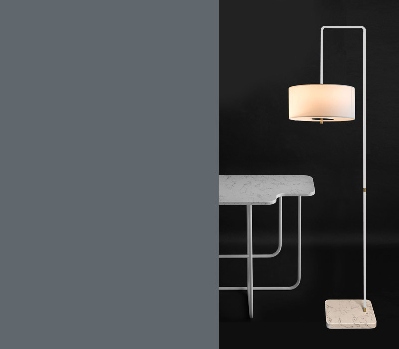 T59 Floor lamp lit