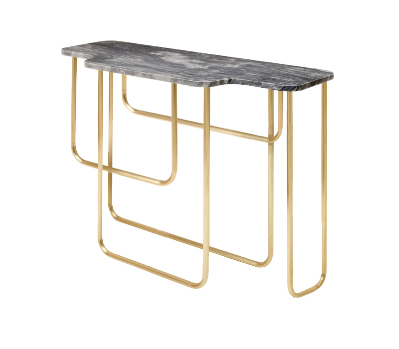 T59 Console Table Cutout from Side