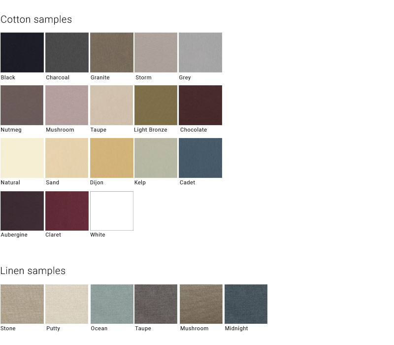 Shade fabric colours
