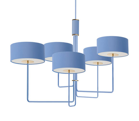 T59 Quintet Chandelier in Maritime Blue