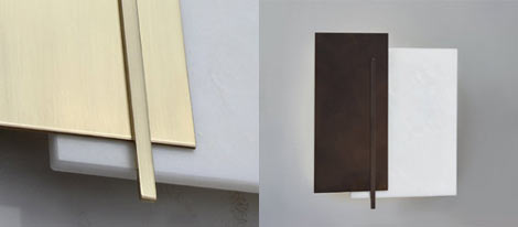 Nicholson Wall Light in Brushed Brass & Bronze