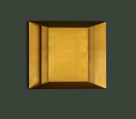 Apeture Sconce in Satin Brass